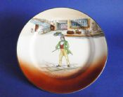 Royal Doulton 'Dick Swiveller' Dickens Ware Series 'A' Large Rack Plate D2973 c1928
